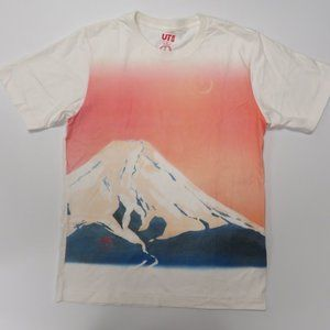 Uniqlo Mens Small Graphic Tee T-Shirt White S/S